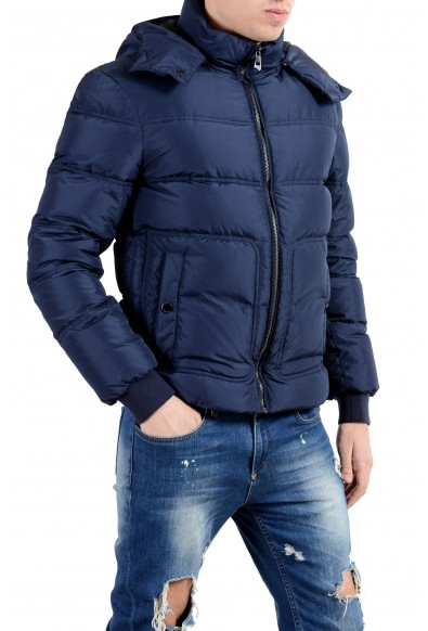 Versace Collection Men's Down Blue Full Zip Hooded Parka Jacket: Picture 2
