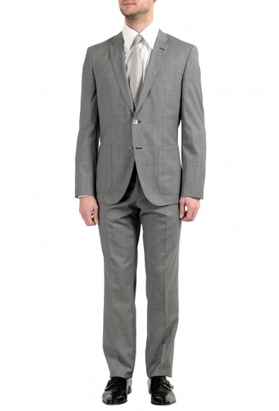 "Hugo Boss ""Janon/Lenon"" Men's 100% Wool Gray Two Button Suit"