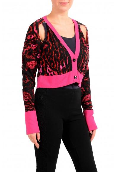 Just Cavalli Women's 100% Wool Multi-Color Cardigan Sweater : Picture 2