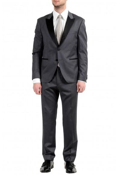 "Hugo Boss ""Rodley/Wallace_1"" Men's 100% Wool Gray Tuxedo Two Button Suit"
