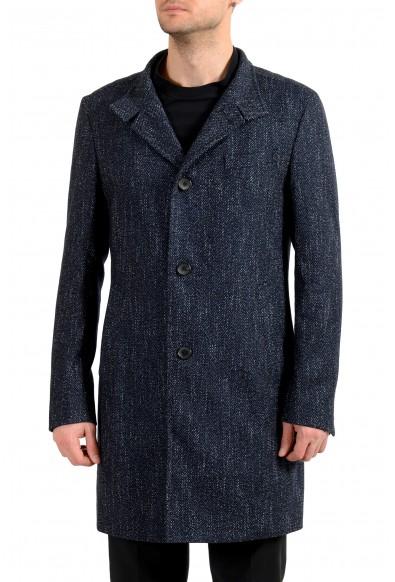 """Hugo Boss Men's """"Shanty3"""" Wool Blue Button Down Coat"""