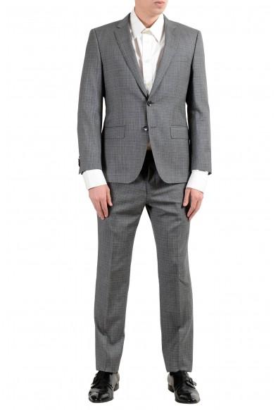 """Hugo Boss """"Huge6/Genius"""" Men's 100% Wool Slim Gray Two Button Suit"""