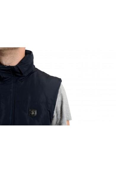 Roberto Cavalli Men's Duck Down Navy Blue Full Zip Vest: Picture 2