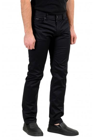 "Hugo Boss Men's ""Maine3-20"" Regular Fit Black Stretch Jeans: Picture 2"