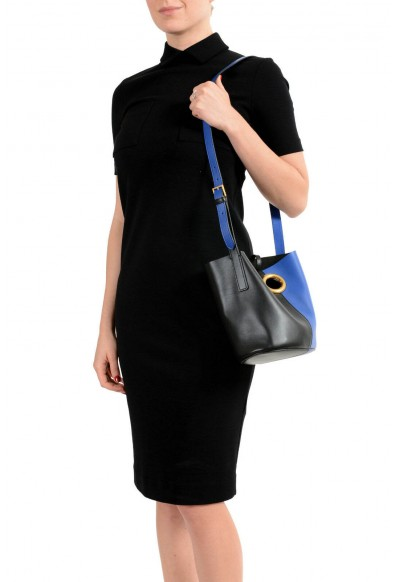 Versace Women's Multi-Color Leather Bucket Shoulder Bag with Build In Wallet: Picture 2
