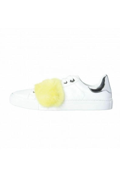 Moncler Women's LENNY Mink Fur Trimmed Leather Fashion Sneakers Shoes: Picture 2