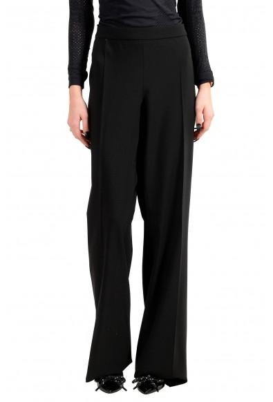 """Hugo Boss Women's """"Tulea_SideZip"""" Black Wool Dress Pants"""