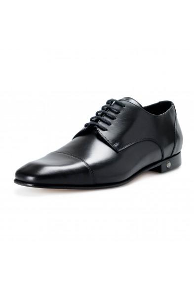 Versace Men's Black Leather Lace Up Oxfords Dress Shoes