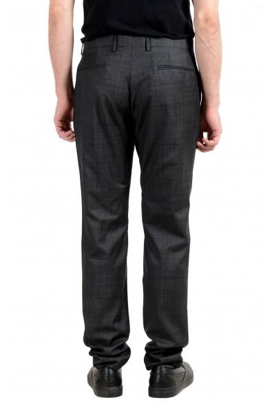 Versace Men's 100% Wool Plaid Flat Front Dress Pants: Picture 2