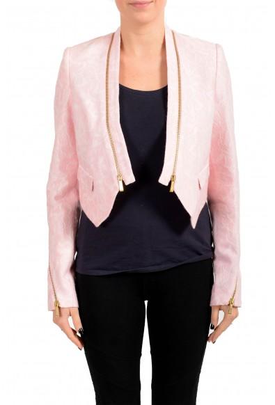 Just Cavalli Women's Pink Wool Blazer Jacket