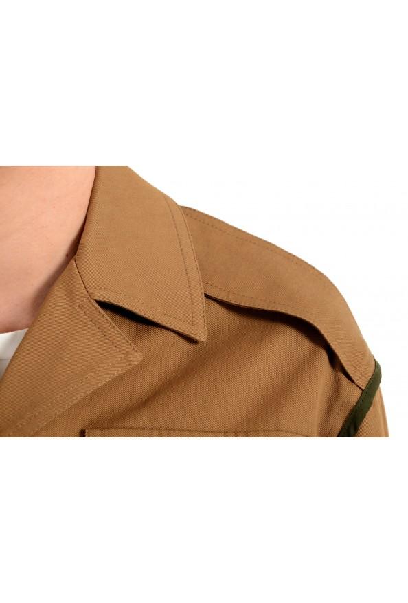 Versace Women's Brown Button Down Blazer Jacket Coat: Picture 6