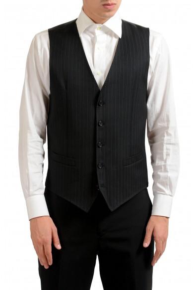 Dolce & Gabbana Men's 100% Wool Button Up Striped Dress Vest
