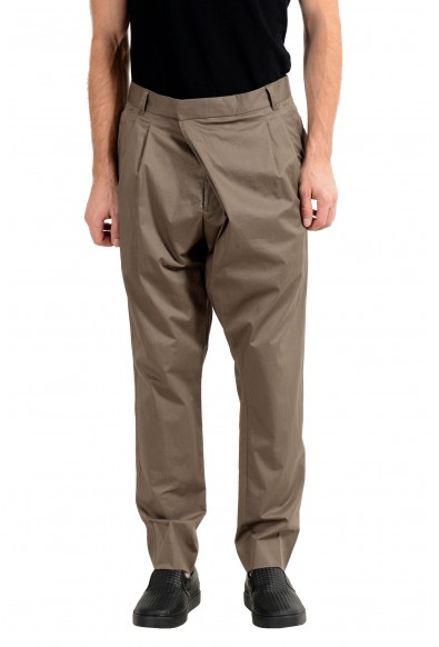 "Hugo Boss ""Fabrizio192"" Men's Olive Green Pleated Casual Pants"