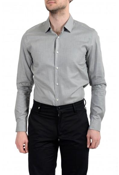 """Hugo Boss """"T-Charlie"""" Men's Tailored Slim Fit Gray Dress Shirt"""