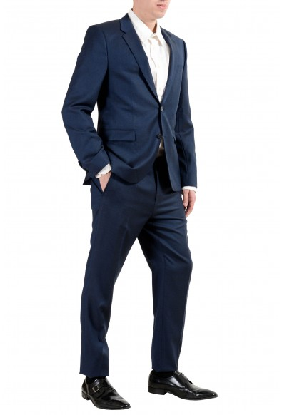 """Hugo Boss """"Astian/Hets"""" Men's 100% Wool Extra Slim Blue Two Button Suit: Picture 2"""
