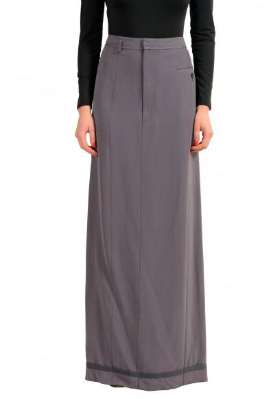 Maison Margiela 1 Wool Gray Women's Maxi Skirt