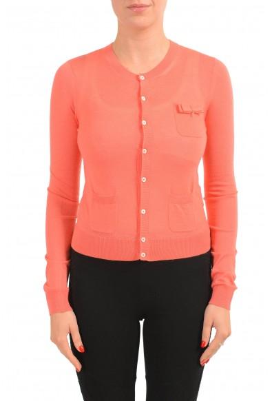 Dsquared2 Women's 100% Wool Peach Light Cardigan Sweater