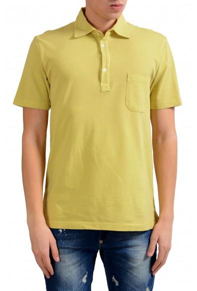 Malo Men's Yellow Short Sleeve Polo Shirt