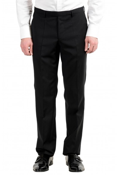 """Hugo Boss """"The Jam75/Sharp3"""" Men's 100% Wool Black Two Button Suit: Picture 2"""