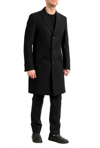 "Hugo Boss Men's ""Gondor1"" Black Extra Slim Fit Button Down Coat: Picture 2"