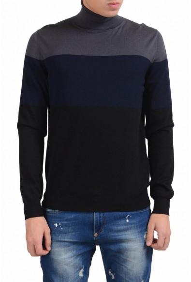 Prada Men's 100% Wool Turtleneck Multi-Color Sweater