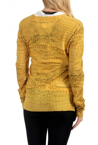 John Galliano Women's 100% Wool Button Down Cardigan Sweater: Picture 2