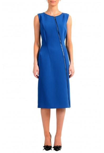 """Hugo Boss Women's """"Danafea"""" Blue Sleeveless Pencil Dress"""