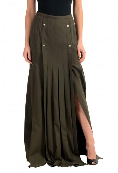 Versace Versus Wool Green Women's Maxi Skirt: Picture 2