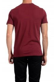 Roberto Cavalli Men's Burgundy Graphic Print Crewneck T-Shirt: Picture 2