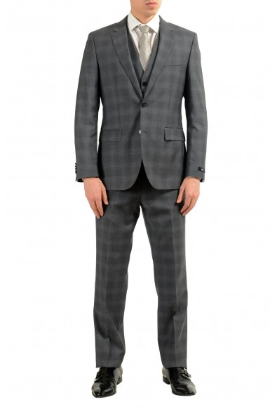 """Hugo Boss """"The Grand/Central2WE"""" Men's 100% Wool Plaid Three Piece Suit"""