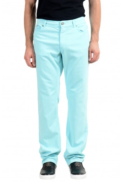 """Versace Collection """"Slim"""" Men's Turquoise Straight Leg Jeans"""