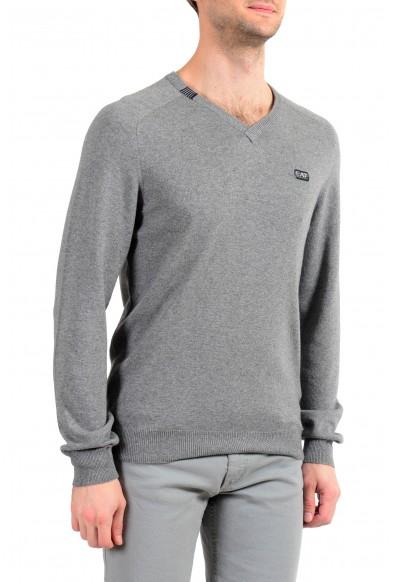 """Emporio Armani EA7 """"Golf"""" Men's Cashmere Wool Gray V-Neck Sweater: Picture 2"""