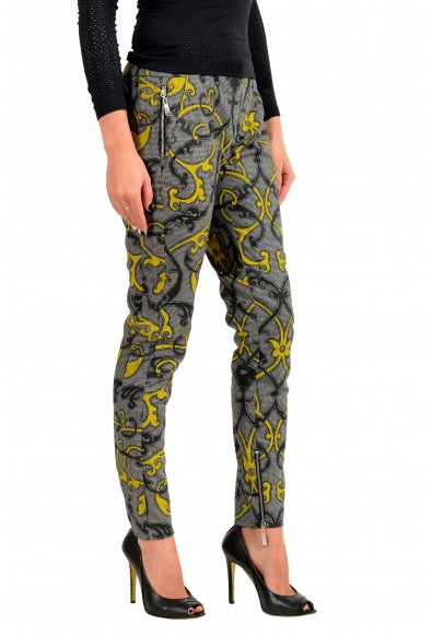 Just Cavalli Women's Multi-Color Wool Flat Front Pants : Picture 2