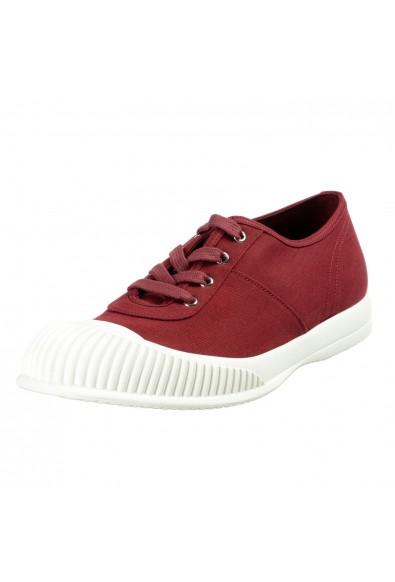 Prada Men's Burgundy Canvas Fashion Sneakers Shoes