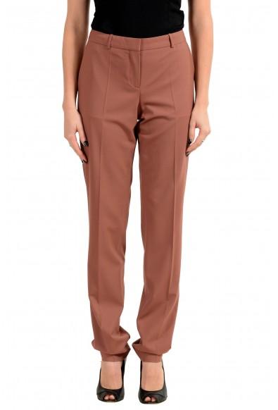 "Hugo Boss ""Tilunana2"" Women's Wool Beige Casual Pants"