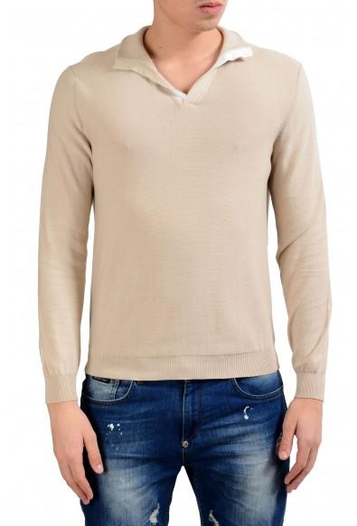 Malo Men's Bone White Pullover Sweater