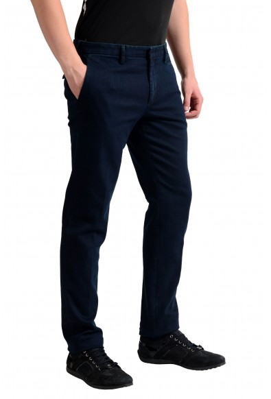 Prada Men's Dark Blue Denim Casual Pants : Picture 2