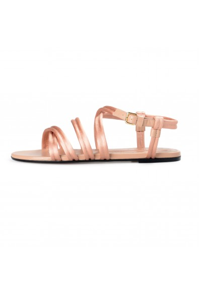 Marni Women's Pink Strappy Satin Leather Sandals Shoes : Picture 2