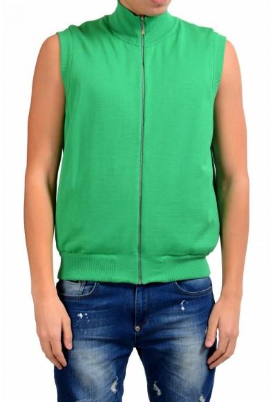Malo Men's Green Full Zip Vest