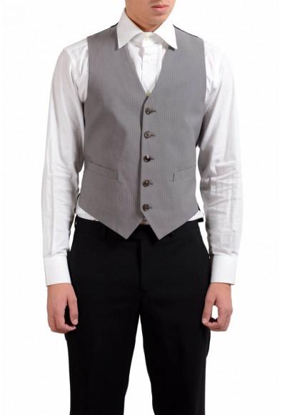 Maison Martin Margiela Men's Striped Button Up Vest