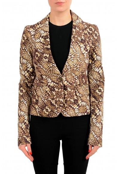 Just Cavalli Multi-Color One Button Women's Blazer