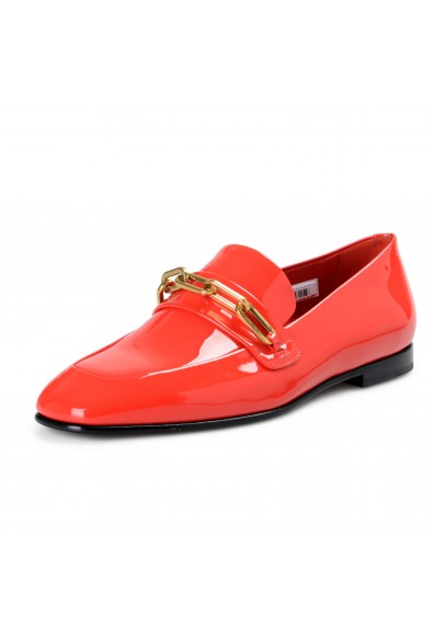 Burberry London Women's CHILLCOT Red Patent Leather Loafers Shoes
