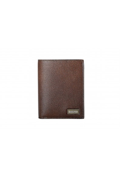 Salvatore Ferragamo Men's 100% Textured Leather Brown Bifold Wallet
