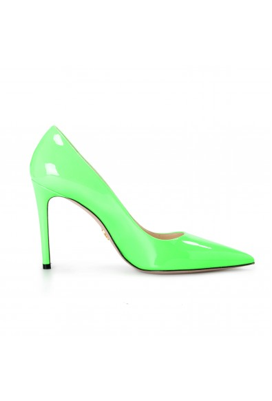 """Prada Women's """"1I834I"""" Lime Green Patent Leather High Heel Pumps Shoes: Picture 2"""