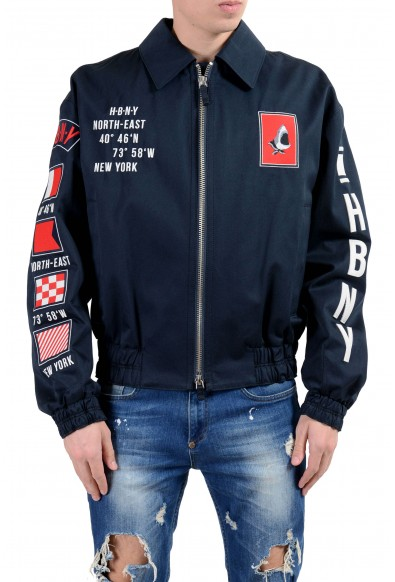 "Hugo Boss ""Glenflag1_FS"" Men's Dark Blue Patched Full Zip Jacket"
