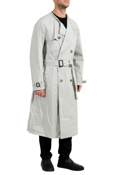 """Hugo Boss Men's """"NAGANO_FS"""" Stone Gray Belted Trench Coat: Picture 2"""