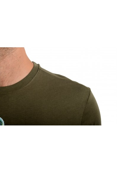 Roberto Cavalli Men's Olive Green Graphic Print Crewneck T-Shirt: Picture 2