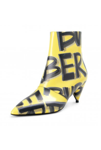 Burberry London Women's WILSBECK Yellow Leather Heeled Ankle Boots Shoes