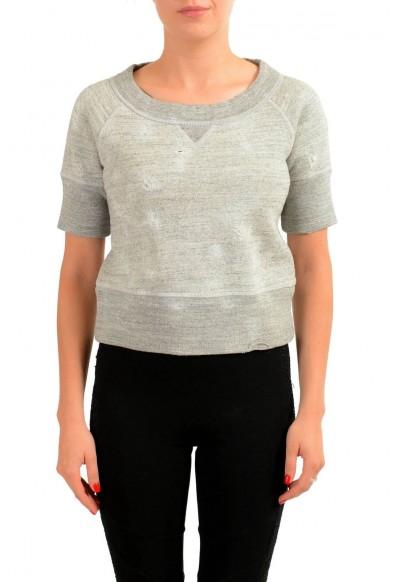 Dsquared2 Gray Short Sleeve Women's Top