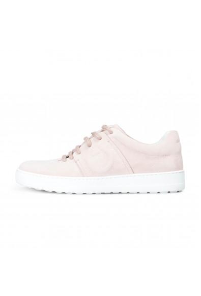 "Salvatore Ferragamo Women's ""FASANO"" Pink Suede Leather Fashion Sneakers Shoes: Picture 2"